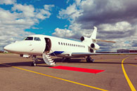 Oil industry private jet